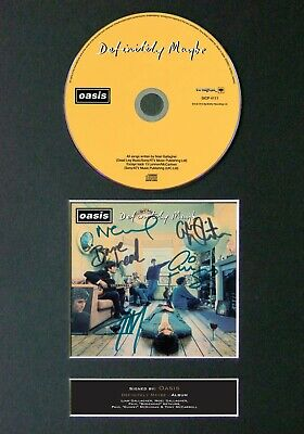 OASIS Definitely Maybe Mounted Signed Autograph CD Print A4 #45 • 19.99£