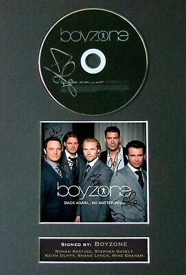 BOYZONE Back Again Mounted Signed Autograph CD Print A4 #26 • 8.49£