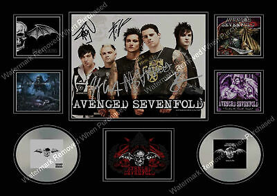 Avenged Sevenfold  Signed A4 Limited Edition  Memorabilia A4 Photo Print • 7.89£