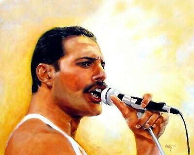 Freddie Mercury 03 Queen Art Print (music) Keyrings-mugs-photographs • 25£