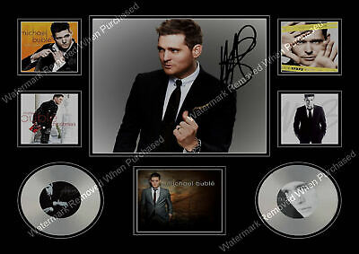 Michael Buble Signed Songwriter A4 Photo Limited Edition Print Memorabilia • 7.89£