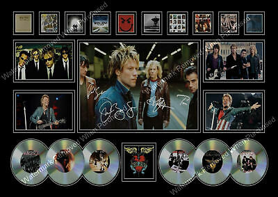 Bon Jovi Signed Picture Cd Collage  Autograph  A4 Print Memorabilia  • 7.89£