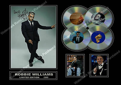 Robbie Williams Signed Limited Edition A4 Autographed Photo Print • 7.89£