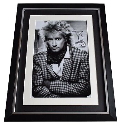 Rod Stewart Signed Autograph 16x12 Framed Photo Display Faces Music AFTAL COA • 109.99£