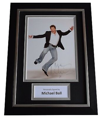 Michael Ball Signed A4 FRAMED Autograph Photo Display Radio 2 Music AFTAL COA • 59.99£