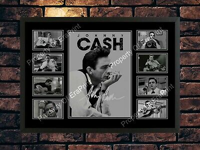 Johnny Cash A4 Autographed Male Songwriter A4 Photo Print Memorabilia • 7.89£