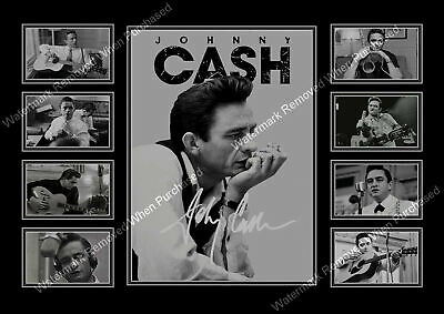 Johnny Cash A4 Autographed Male Songwriter A4 Photo Print Memorabilia • 7.49£