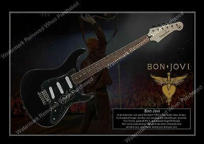 Bon Jovi Signed Guitar Rock  Autograph A4 Photo Print Memorabilia • 7.89£