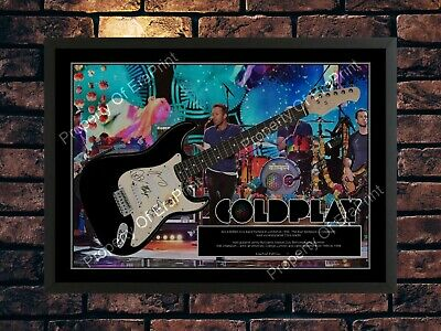Coldplay Signed Limited Edition  Autographed Music Memorabilia A4 Photo Print • 7.89£