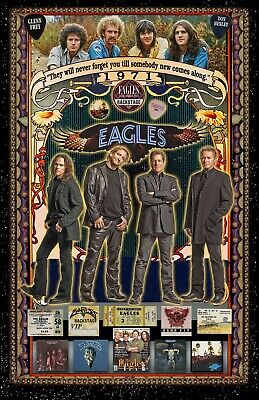 The Eagles  Tribute Poster - 11x17  Vivid Colors  • 10.63£
