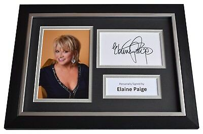 Elaine Paige Signed A4 FRAMED Autograph Photo Display Musical Theatre  AFTAL COA • 49.99£