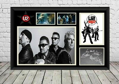 U2 Signed Photo Print Poster Autographed Pop Band Memorabilia • 7.29£