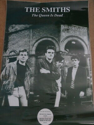 The Smiths 'the Queen Is Dead'  Promo  Poster Laminated Rare- 35 X 24 Inches • 250£