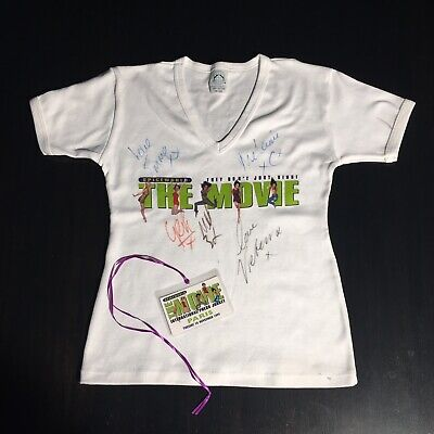 Authentic Spice Girls Autographed Promo T-Shirt.Signed By All Five Spice Girls • 550£