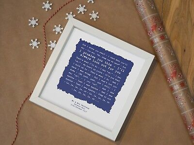 Cold Play 'Sparks' - Personalised Framed Song Lyrics Print • 32.90£