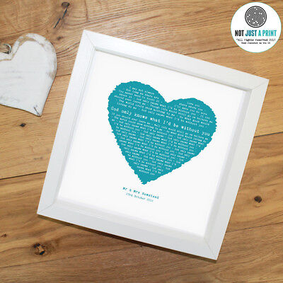 The Beach Boys God Only Knows Personalised Song Heart Print Valentines Day Gift • 26.90£