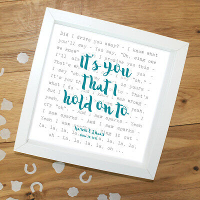 Coldplay 'Sparks' -  Framed Lyrics Poster - Personalised Gift • 32.90£