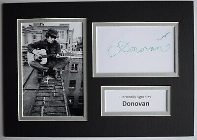 Donovan Signed Autograph A4 Photo Display Music Memorabilia AFTAL COA • 29.99£