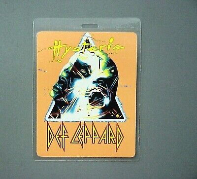 Def Leppard Backstage Pass Hysteria Otto Laminated Orange Pass ! • 19.67£