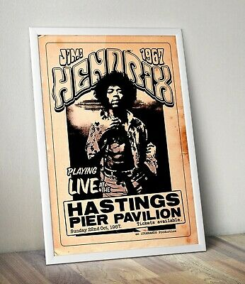 Jimi Hendrix Live At Hastings 1967 Poster/Artwork/Print.  • 34.29£