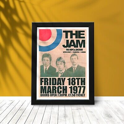 THE JAM Reproduction Gig Poster, Paul Weller Poster, The Jam Prints. • 32.99£