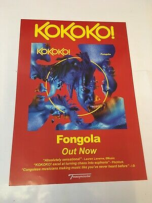 Kokoko! - Fongola - Album Promotional Poster - Official Record Company Issue • 7.99£