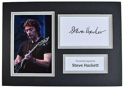 Steve Hackett Signed Autograph A4 Photo Mount Display Genesis Music AFTAL & COA • 34.99£