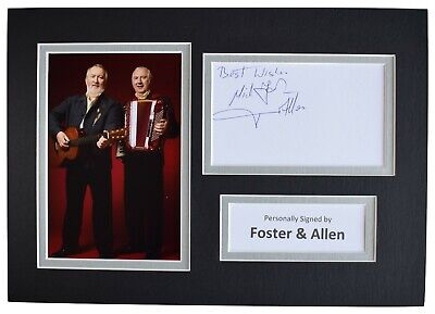 Foster & Allen Signed Autograph A4 Photo Mount Display Music Ireland AFTAL COA • 32.99£