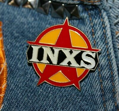 Vintage INXS Enamel Pin NOS Retro 80s Australia Rock New Wave Hat Lapel Bag Star • 6.43£