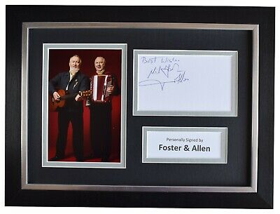 Foster & Allen Signed A4 Framed Autograph Photo Display Ireland Music AFTAL COA • 52.99£