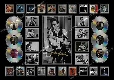 Johnny Cash A4 Autographed Male Songwriter Photo  Collage Print Memorabilia • 7.89£
