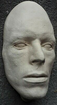 David Bowie Mask Life Face Cast Life Size Bust 1975 Casting White • 25£