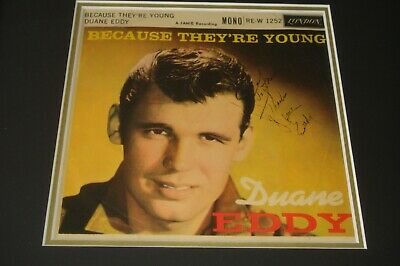 DUANE EDDY London Label EP,  Because They're Young , Signed & Dedicated By Duane • 44.99£