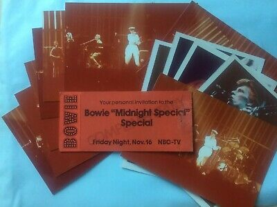 David Bowie Midnight Special Original Concert Ticket 1973 & Photographs • 254.99£