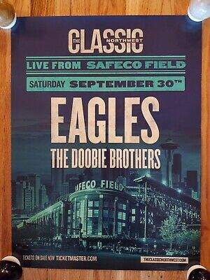 Eagles The Doobie Brothers Safeco Field Concert Promo Poster Seattle WA 9/30/17 • 15.85£