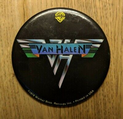 Van Halen 1978 Original Tour Button - Collector's Item! • 15.74£
