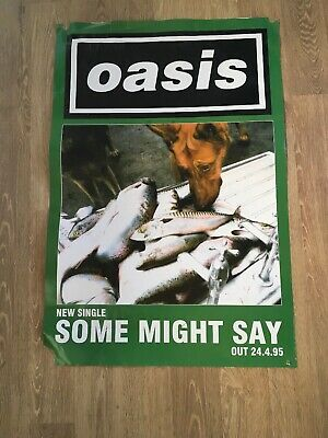 Oasis Original 1995 Some Might Say Poster • 8.99£