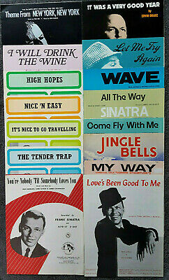 Frank Sinatra Single Song Vintage Sheet Music Scores  (some Rare Ones Look) • 5.99£