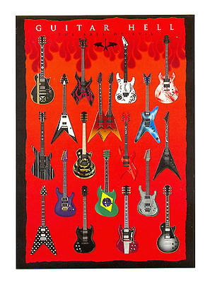 Guitar Hell - The Axes Of Evil - 10cm X 15cm - Postcard • 1.50£