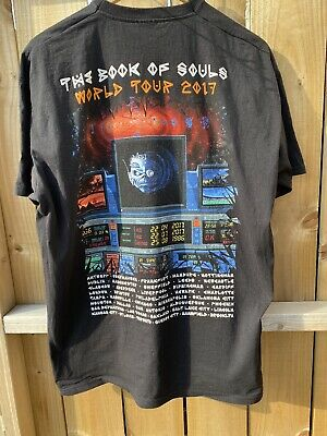 Iron Maiden XL / L The Book Of Souls Uk Tour 2017 New Castle O2 Event T Shirt • 24.99£