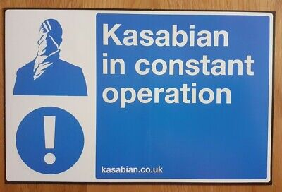Kasabian Official RARE Sticker In Constant Operation Club Foot • 9.99£