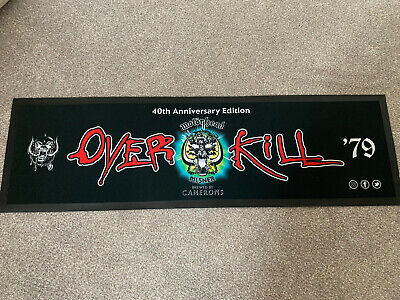 Motorhead Official OVERKILL 79-19 Beer Mat Bar Runner Limited Edition Roadcrew • 35£