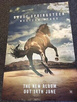 Bruce Springsteen - Western Stars Promo Poster - OFFICIAL RECORD COMPANY ISSUE • 9.99£