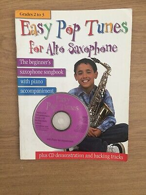 EASY POP TUNES For ALTO Saxaphone BOOK  Grades 2-3 With CD See Details • 7.99£