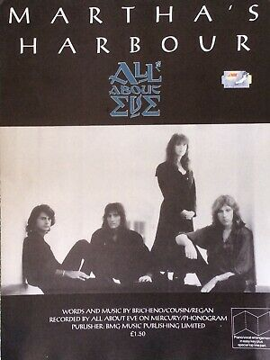 Martha's Harbour. All About Eve. -  Sheet Music • 8.50£