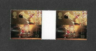 Freddie Mercury-Queen-Official Great Britain Stamps(2) Pair (1999)Music-Rock-Pop • 12.95£