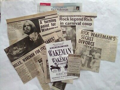 Rick Wakeman Concert Flyer And Clippings • 3£
