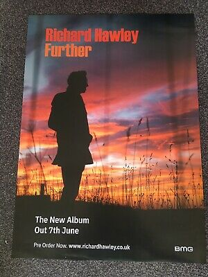 Richard Hawley - Rare Large Music Promo Poster - Official Issue  - Further Album • 8.99£