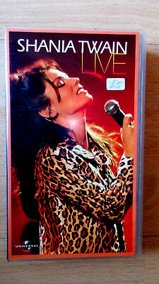 Shania Twain Live. VHS Video, Universal Music No. 0599543, 1999. Vg Condition. • 3£