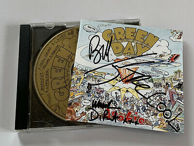 Green Day Dookie Original 1994 CD Album ( Signed Autographed ) By All 3 Members • 35£